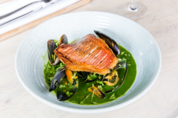 Snapper, parsley and mussels at Four in Hand