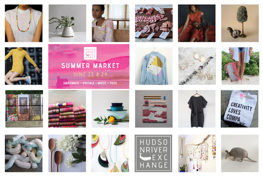 come on out to the riverfront park this weekend in hudson for this amazing market! starting friday 6/23 from 4-9pm + continuing saturday 6/24 from 11-6pm. so many incredible hudson valley makers + collectors will be here and it's such a fun event! hope to see y'all there and find out more here.