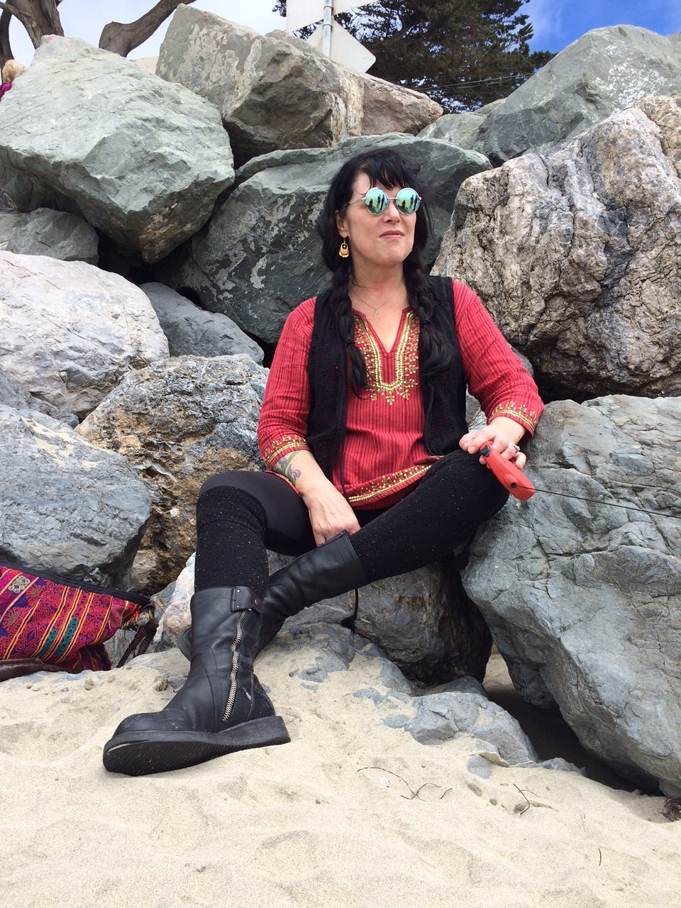 Ann Wilson at the Beach