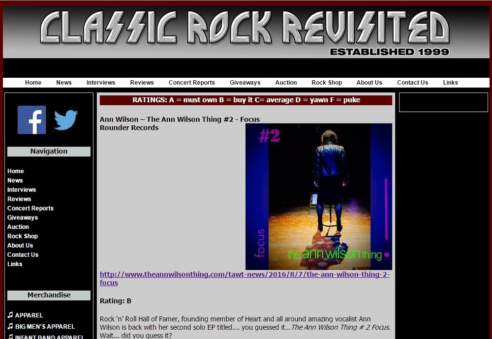 classic rock revisited reviews ep 2 focus ann wilson of heart rh annwilsonofheart com