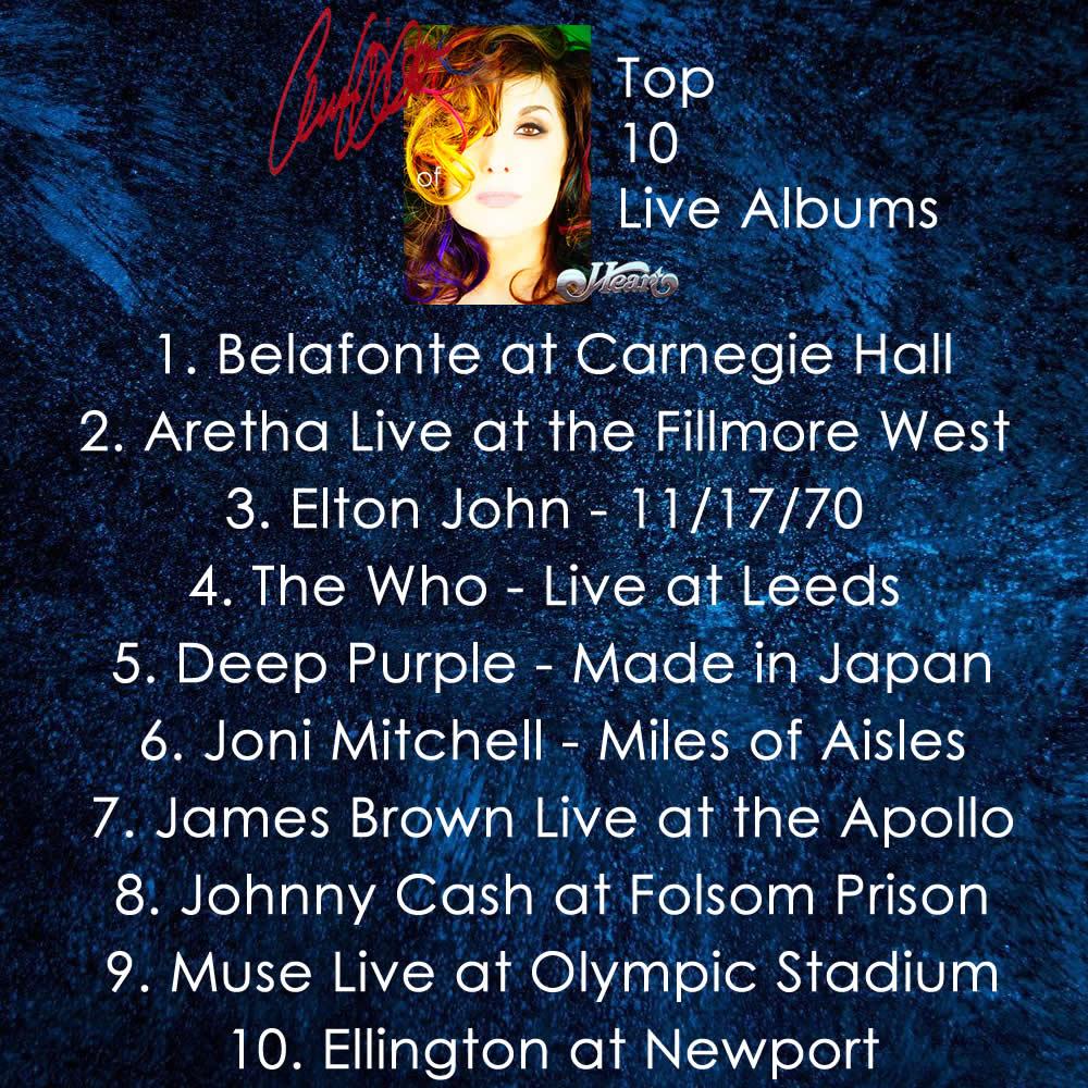 ann wilson's top 10 live albums