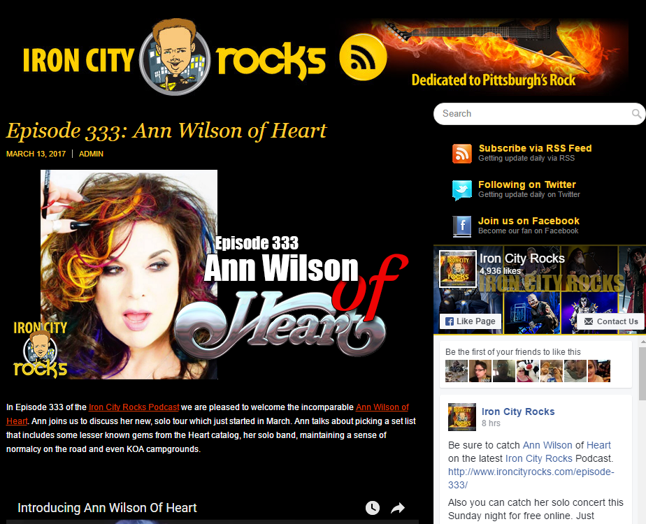 ann wilson of heart podcast