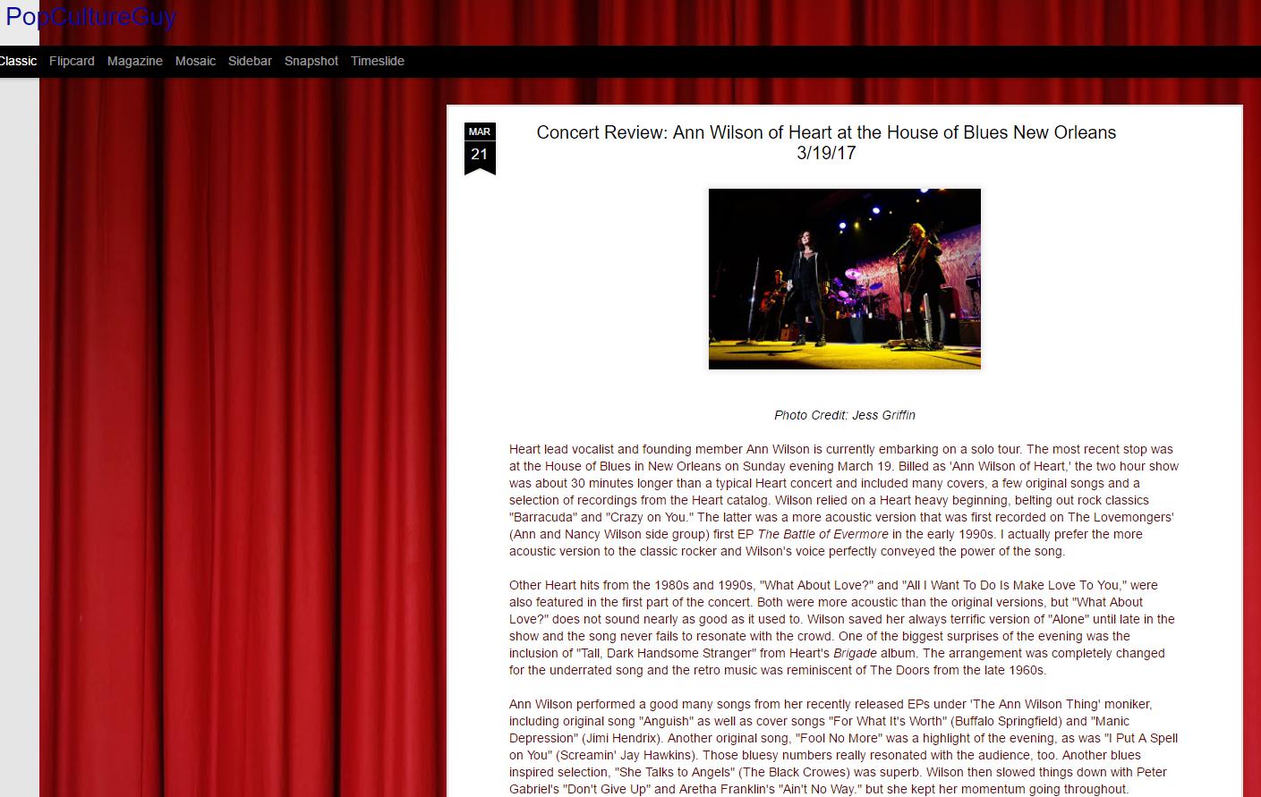 concert review format