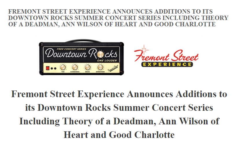 fremont street experience featuring ann wilson of heart