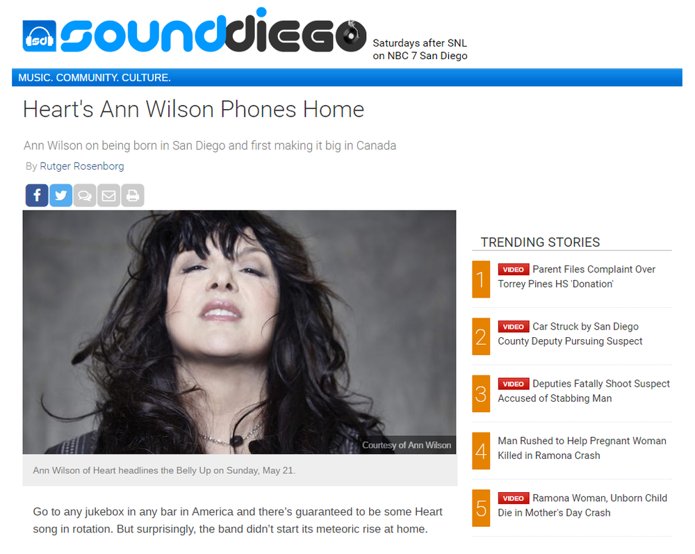 ann wilson phones home