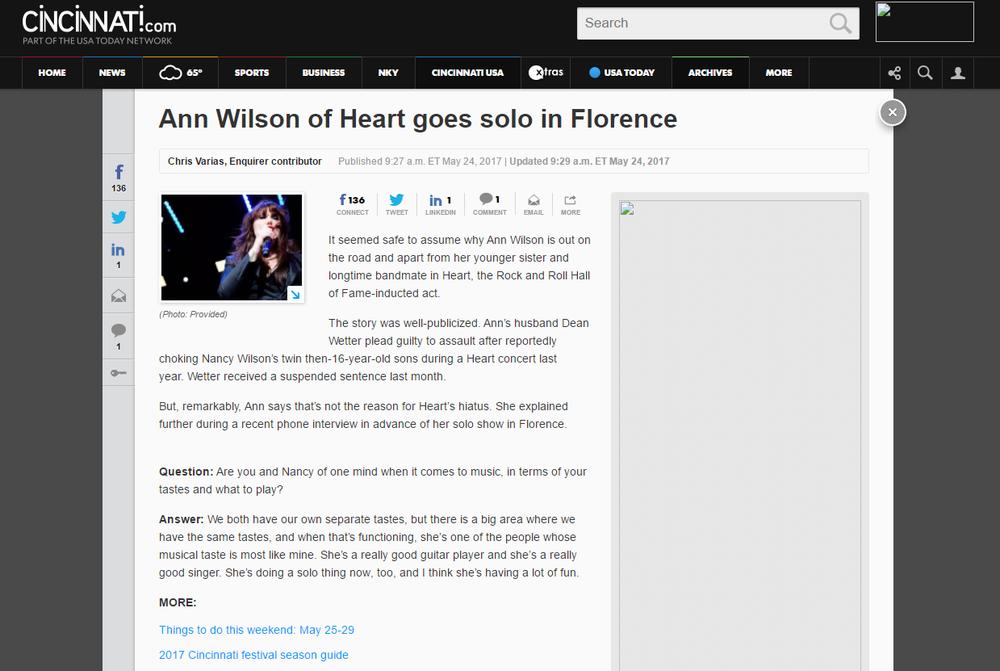 ann wilson goes solo