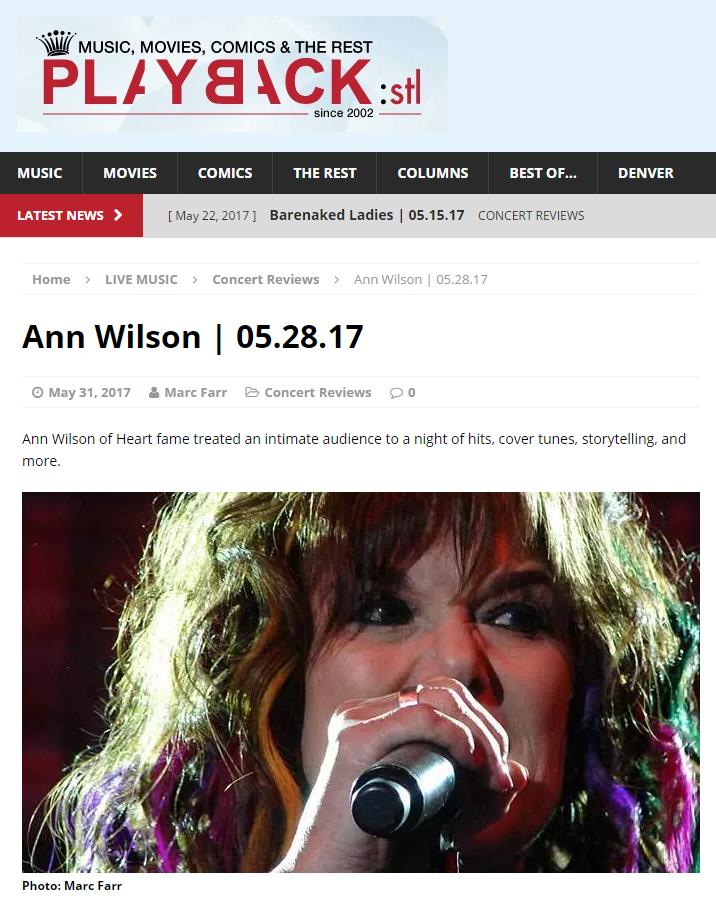 ann wilson singing