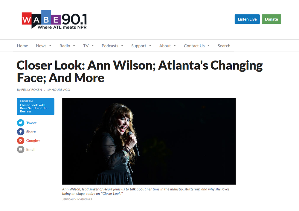 ann wilson closer look