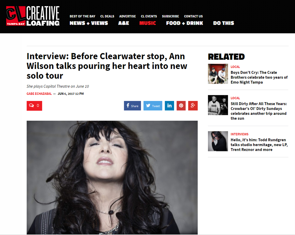 ann wilson of heart interview