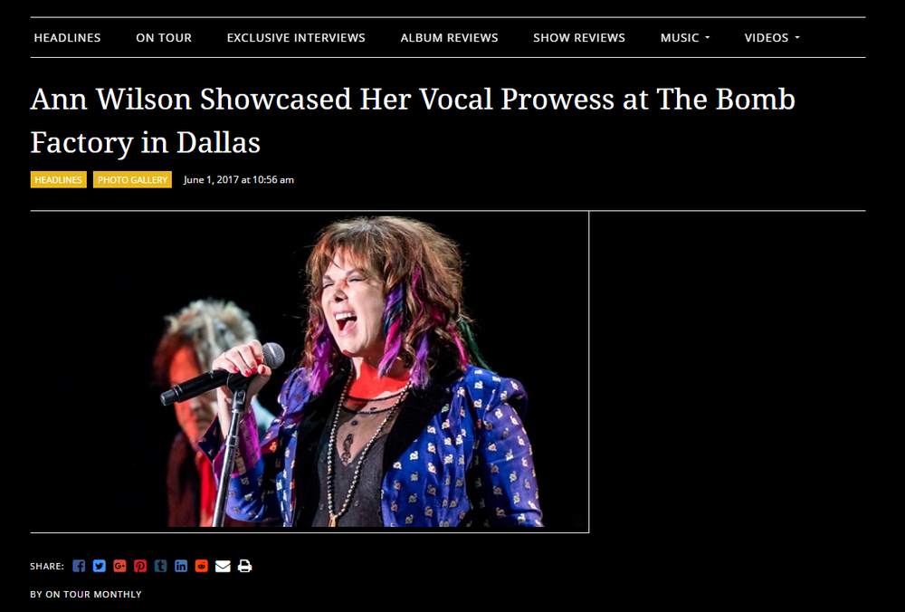 ann wilson rocks texas