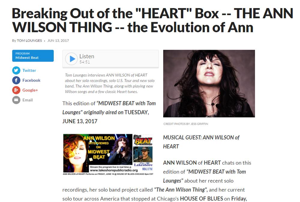 ann wilson podcast interview