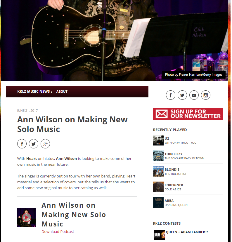 ann wilson on making music