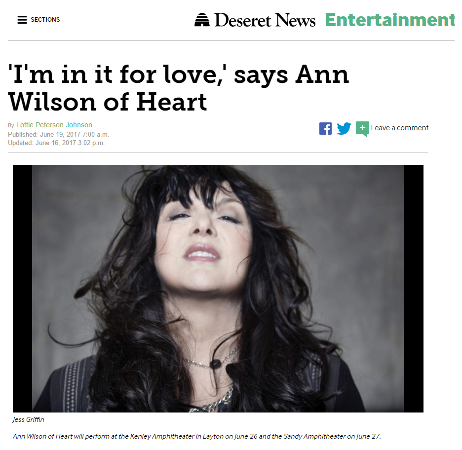 im in it for love ann wilson