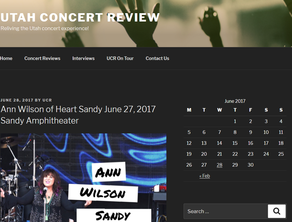 ann wilson of heart utah