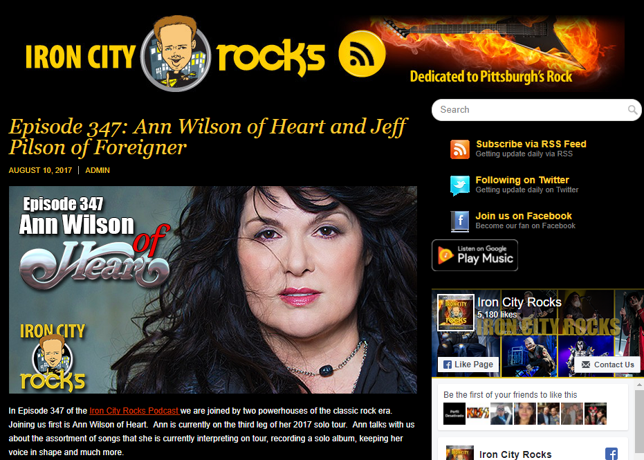 iron city podcast ann wilson