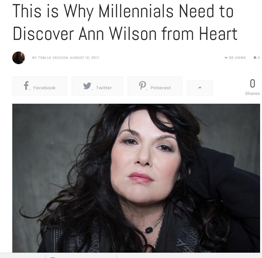 ann wilson millenials