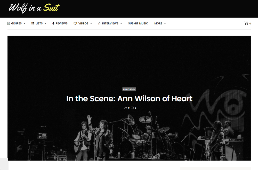 ann wilson in the scene