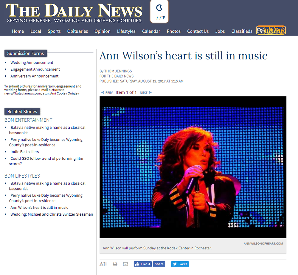 ann wilson still in music