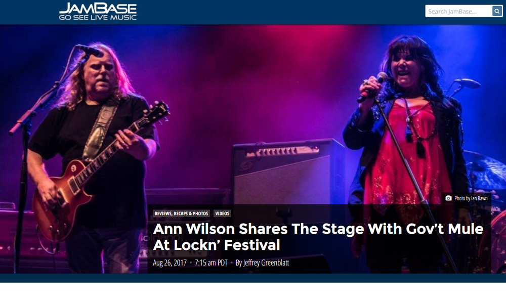 ann wilson shares stage with gov't mule