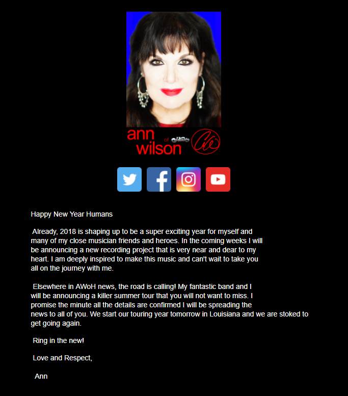 ann wilson of heart news project