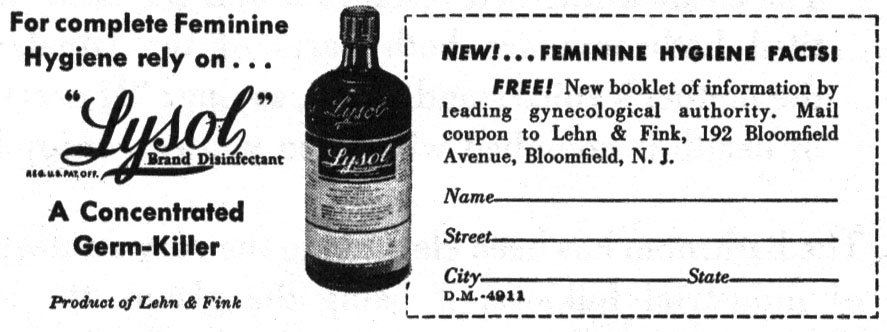 Fun Fact: Lysol used to produce douching products!