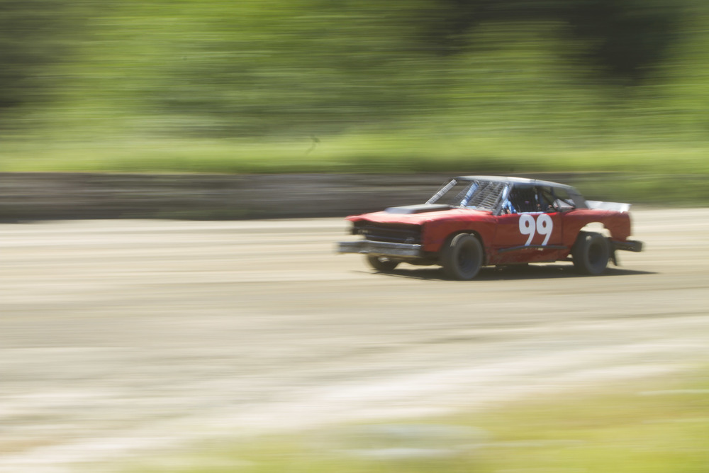 A stock car race in Port Hardy, B.C.  © North Island Gazette