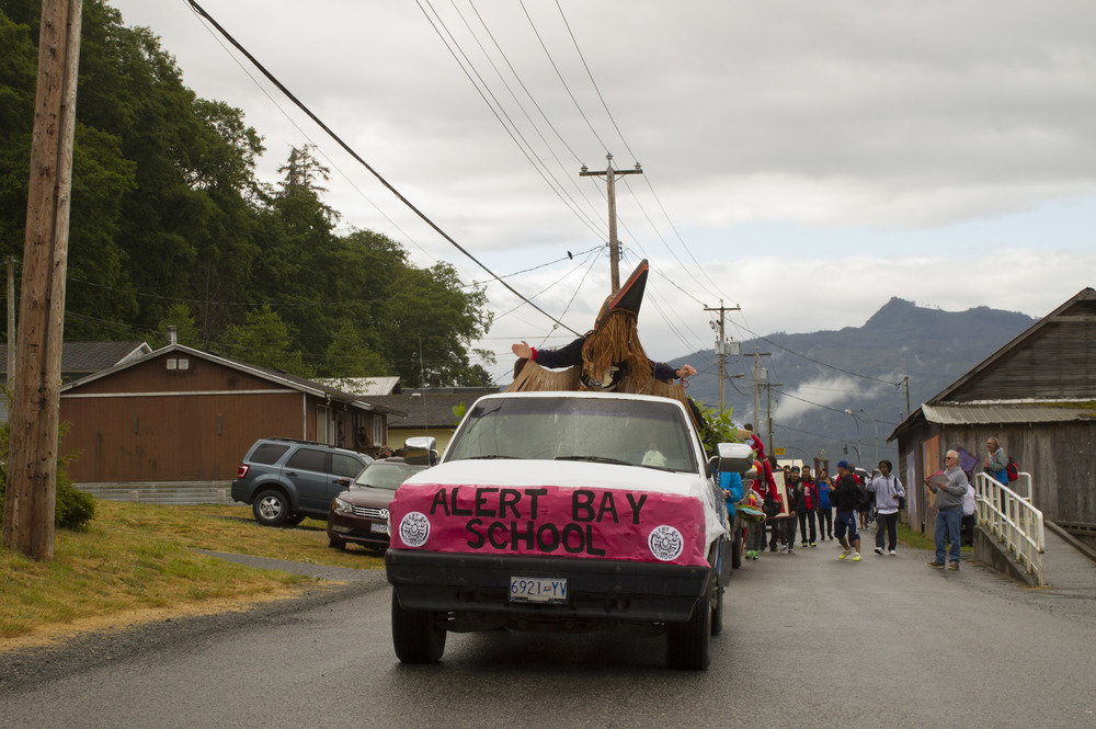 A float in the remote B.C. island community of Alert Bay during the June Sports weekend.  © North Island Gazette