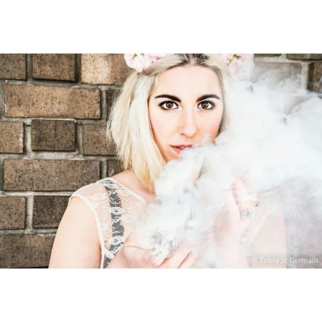 Hang up all my fragile thoughts displayed so you can see  @bella_trixks   #smoke #smokebombs #flower #flowermagic #power #clouds #portrait