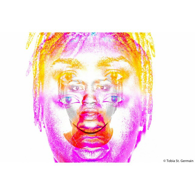 Masks of DEPRESSION    #blackandwhite #selfportrait #portrait #layers #purple #eyes #lips #life #depression  #tobiaeffect #crownheights #haitianart