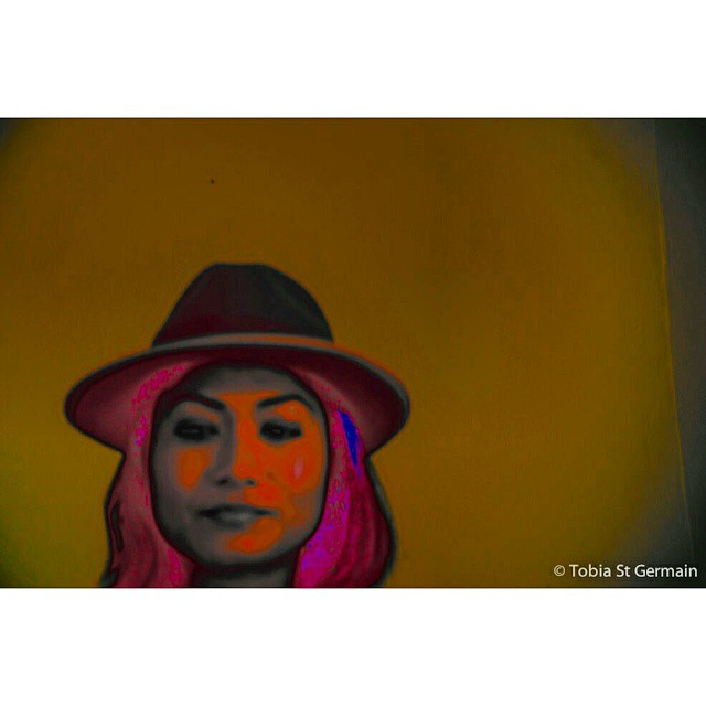 Sit back and just relax your mind  …its such a hard task  Take a pas$?  @stylemeister  #popart #tobiaeffect #raibow #portrait #fedora #style #edge