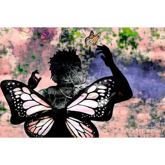 Why have I lost the freedom of imagination?  #selfportrait #portrait #crownheights #tobiaeffect #brooklyn #graphics #butterflies #college #cracks