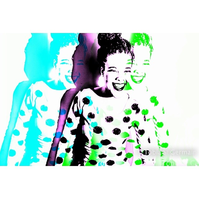 Polka dotted smiles  @francesse_  #three #colorful