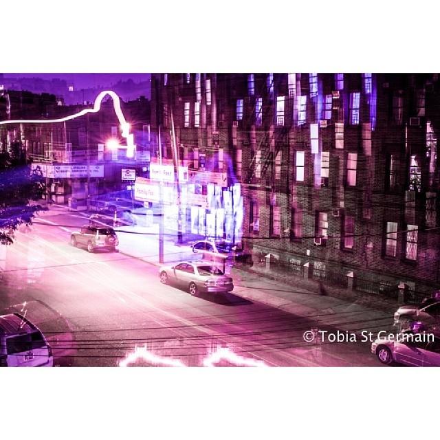 The floor is the front door  #longexposure #purple #night #streets
