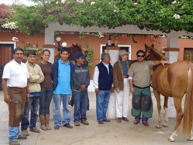 Giving a seminar to Farriers and Veterinarians in Peru,