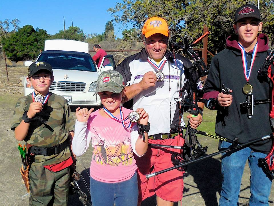 Winning the Archery Championships in Sta Ynez.