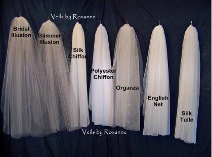 Examples of veil fabrics.