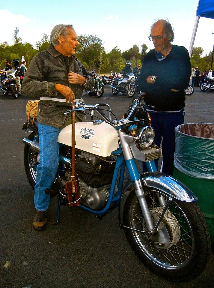 Homer at the 2012 Norton Club Hansen Dam Ride. Photo submitted by Tom Haigh.