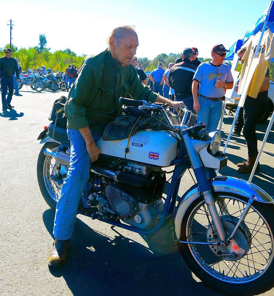 Homer at the Norton Club Hansen Dam Ride in November 2015. Photo submitted by Tom Haigh.