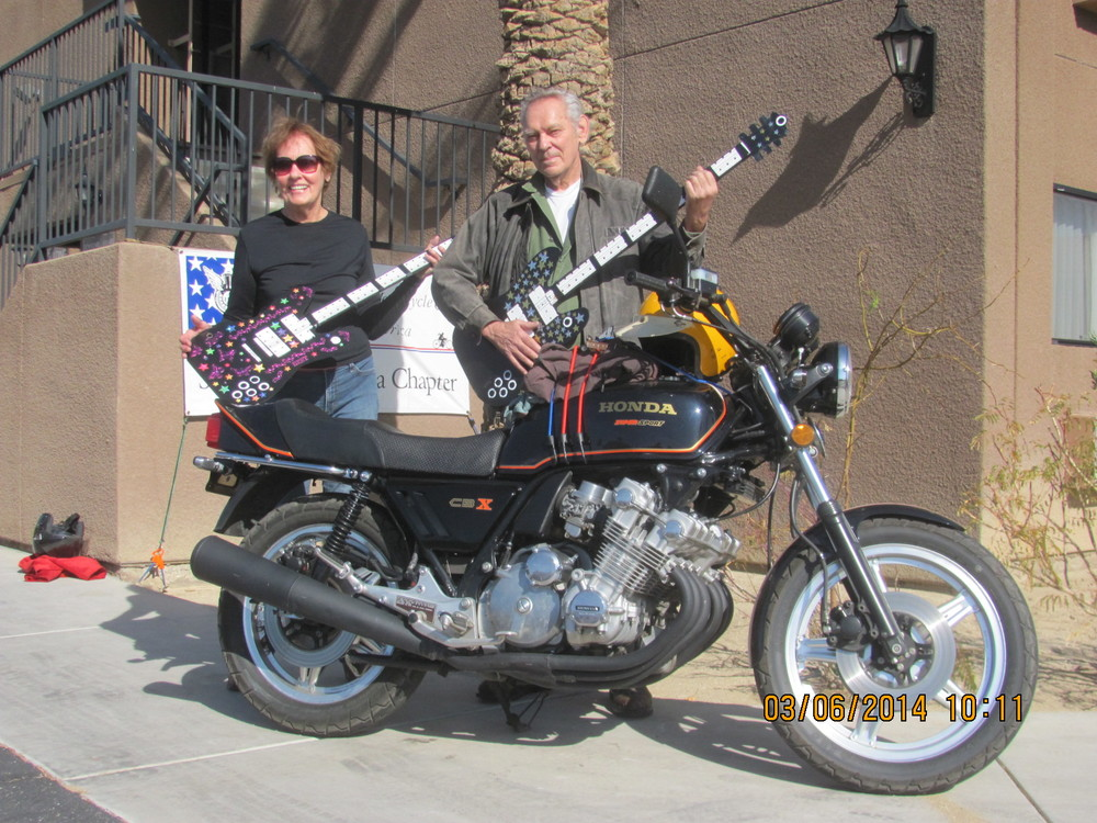 Homer and his long-time friend Mary Jo at the 2014 SoCal AMCA Borrego Springs Winter Road Run.