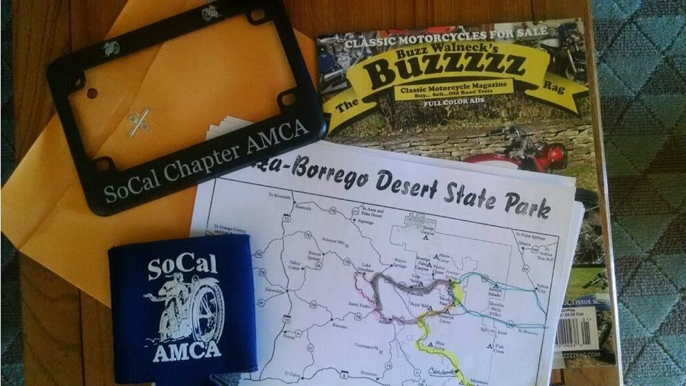SoCal AMCA Winter Road Run is here. Get your swag!