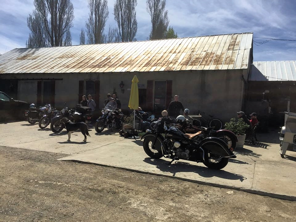 March 4 - Antique bikes and their riders chilling at Menghini Winery near Julian, CA. Photo Credit: Bob Cliff