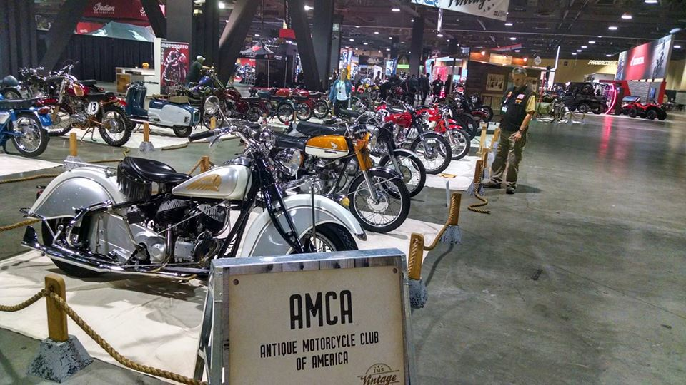 Our display at the 2017 International Motorcycle Show in Long Beach. Quite a sight!