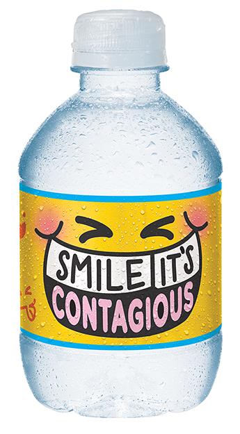 Share-a-Smile - THE ASKEncourage parents to pack a Share-A-Smile bottle of water in their child's lunches for school.THE IDEAShowcase each of the bottles personalities as if they were in their own school yearbook.
