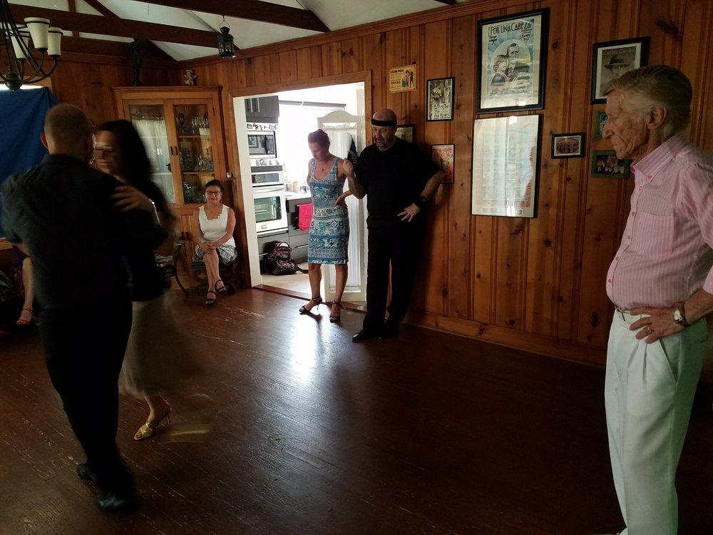 Legendary El Flaco Dany leading a workshop. Tango history itself.