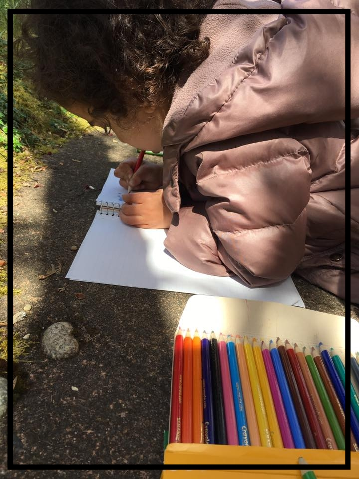 Josie's nature sketch at the Yesler Swamp