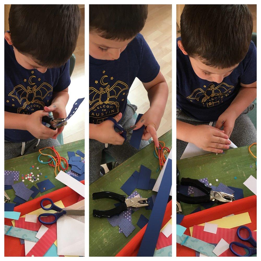 Cutting work by Liam.