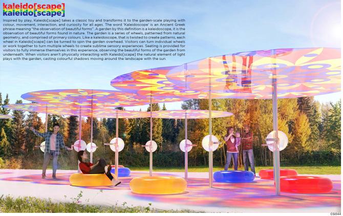 3. Kaleido[scape]by Justin Benjamin + Vanessa Goldgrub (JB+V) Riverbank Discovery Centre, Brandon, Manitoba