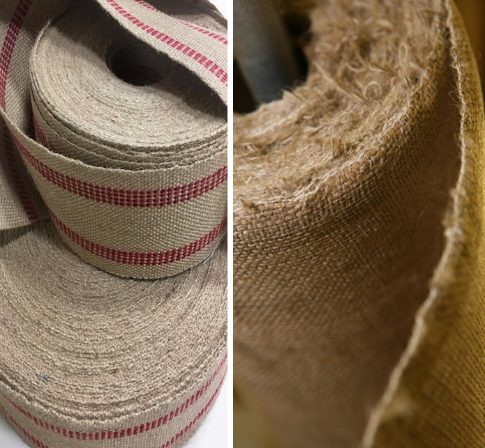 JUTE WEBBING AND JUTE BURLAP -