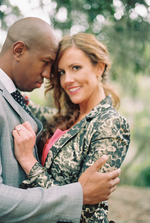 Hilton Head wedding photographer captures couple under Spanish moss in Hilton Head Island, SC the day before their wedding.