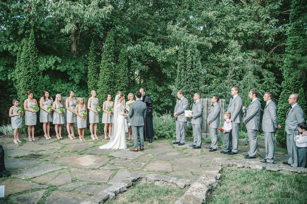 wedding ceremony at Cheekwood Art & Garden wedding, Nashville, TN